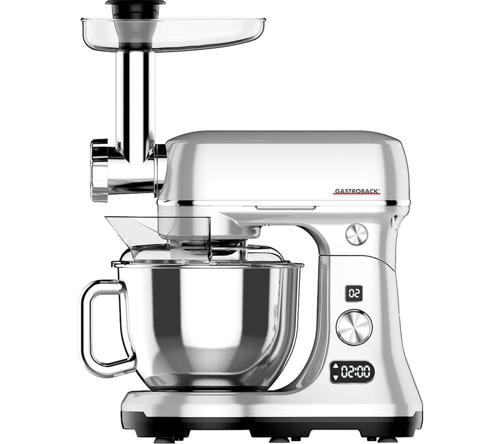 GASTROBACK Design Advanced Digital 40977 Kitchen Machine - Silver, Silver