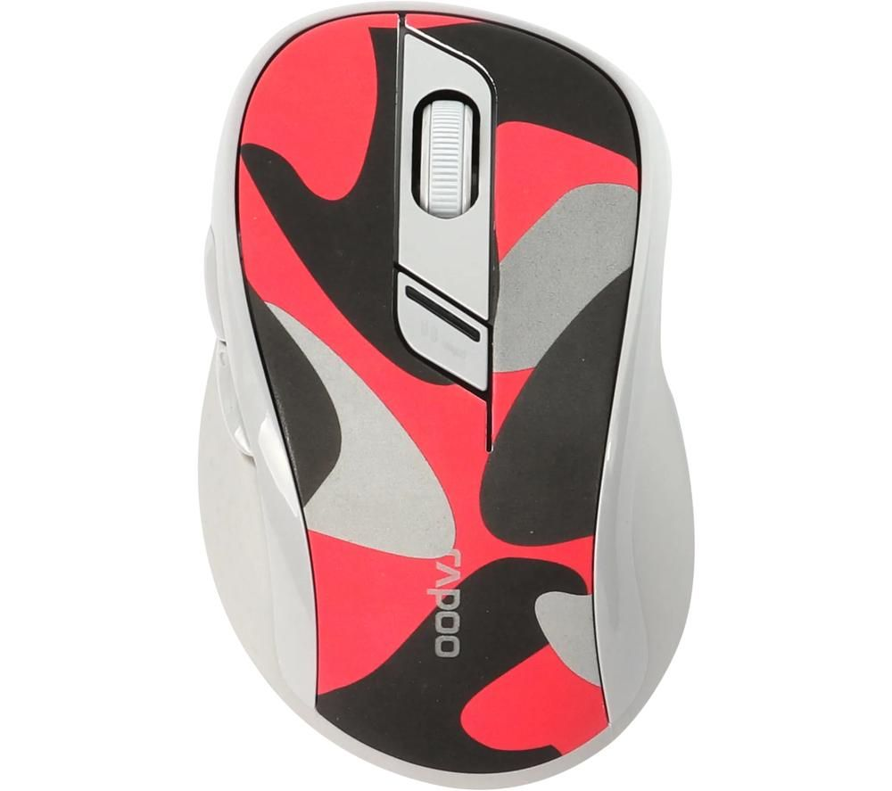 Image of RAPOO M500 Wireless Optical Mouse - Camo Red, Red