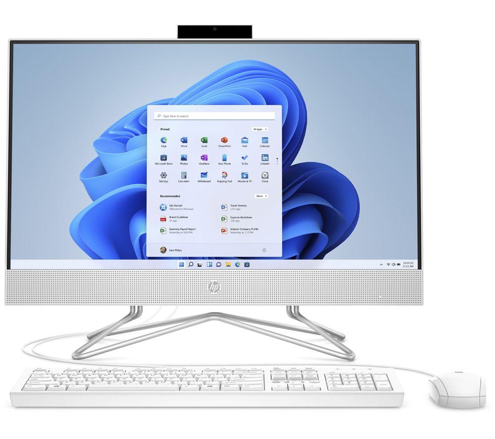 "HP 24-df0076na 23.8"" All-in-One PC - Intel® Pentium®, 256 GB SSD, White"