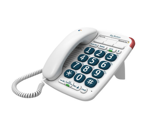 bt big button 200 corded telephone manual