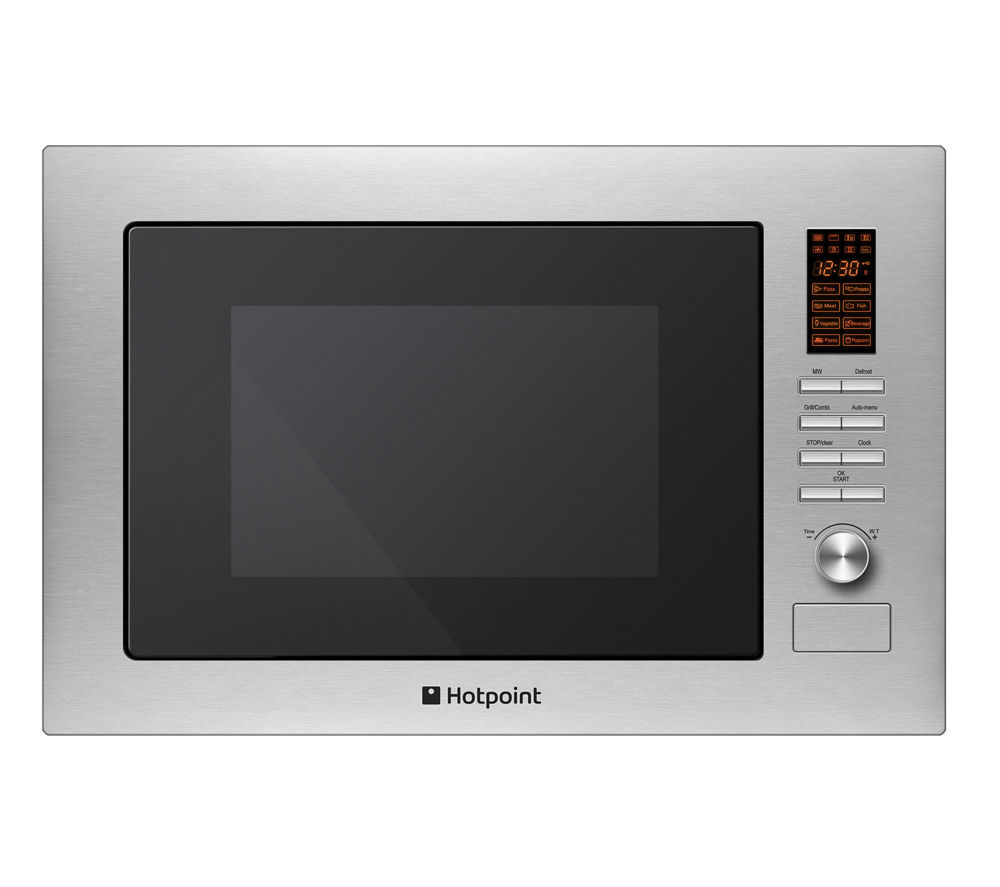 HOTPOINT MWH 222.1 X Built-in Microwave with Grill - Stainless Steel, Stainless Steel