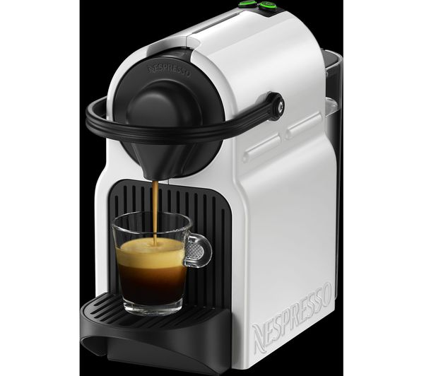 buy nespresso by krups inissia xn100140 coffee machine white free delivery currys. Black Bedroom Furniture Sets. Home Design Ideas