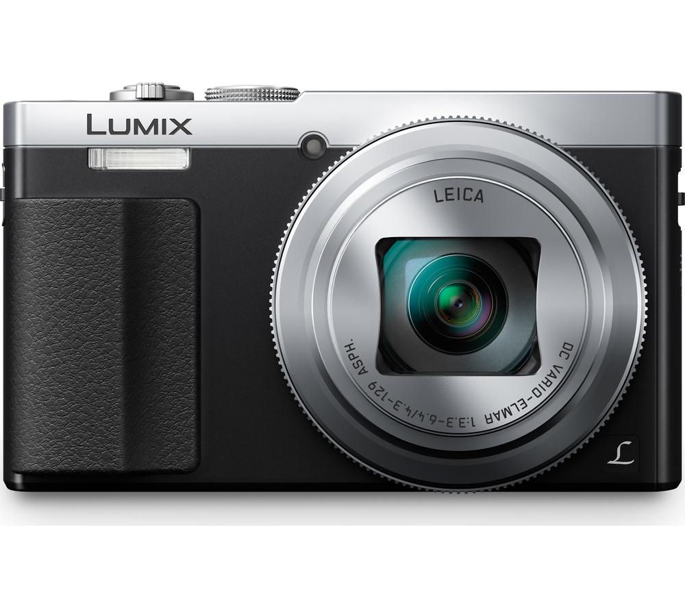 PANASONIC Lumix DMC-TZ70EB-S Superzoom Compact Camera - Silver + Camera Case - Black + Extreme Plus Class 10 SD Memory Card Twin Pack - 16 GB