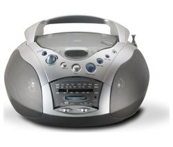 ROBERTS Swallow FM/AM Boombox - Grey & Silver