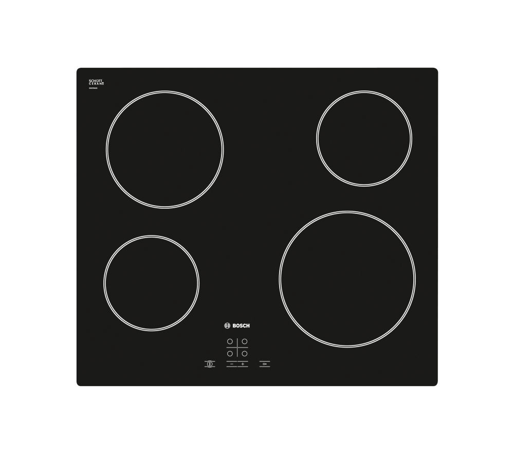 BOSCH PKE611D17E Electric Ceramic Hob - Black, Black