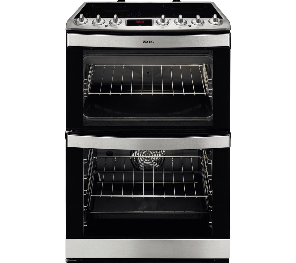 AEG 43102V-MN 60 cm Electric Ceramic Cooker - Stainless Steel