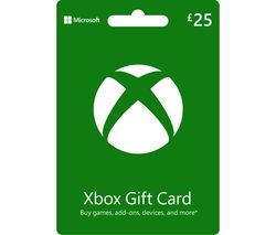 Xbox Live Gift Card - £25