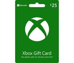MICROSOFT Xbox Live Gift Card - £25