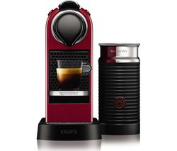 NESPRESSO by Krups Citiz & Milk XN760540 Coffee Machine - Cherry Red