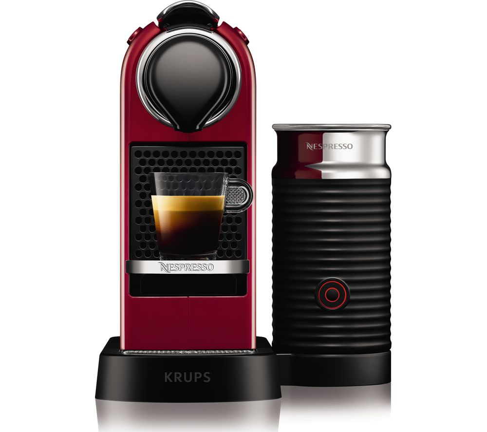 buy nespresso by krups citiz milk xn760540 coffee machine cherry red free delivery currys. Black Bedroom Furniture Sets. Home Design Ideas