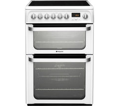 HOTPOINT Ultima HUE61PS 60 cm Electric Ceramic Cooker - White Best Price, Cheapest Prices