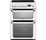 HOTPOINT Ultima HUE61PS 60 cm Electric Ceramic Cooker - White
