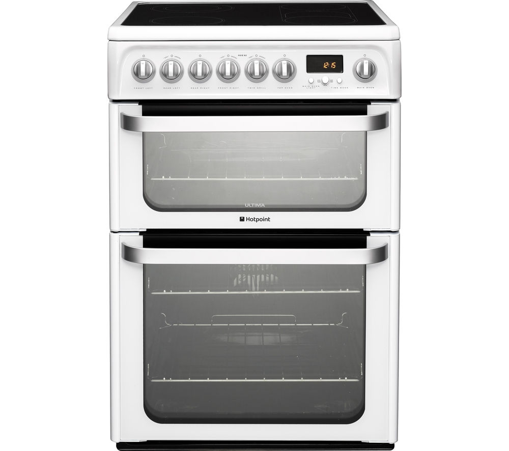 HOTPOINT Ultima HUE61PS Electric Ceramic Cooker - White