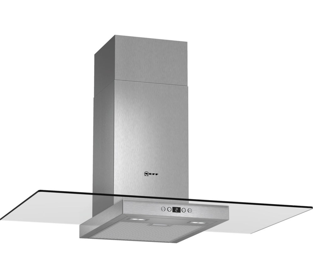 NEFF D89EH52N0B Chimney Cooker Hood - Stainless Steel & Glass