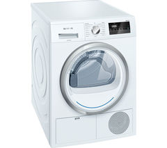 SIEMENS WT45N200GB Condenser Tumble Dryer - White