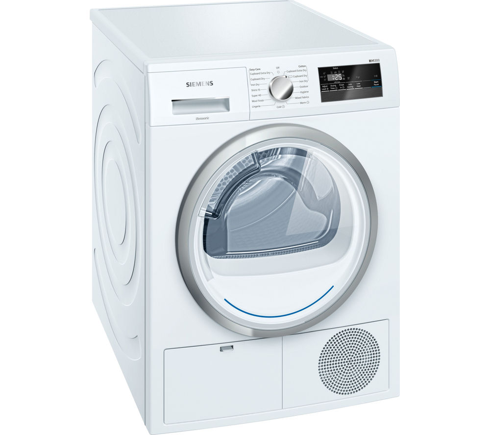 SIEMENS WT45N200GB Condenser Tumble Dryer - White