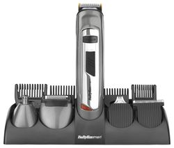 BABYLISS FOR MEN 7235U 10 in 1 Body Groomer - Silver & Grey