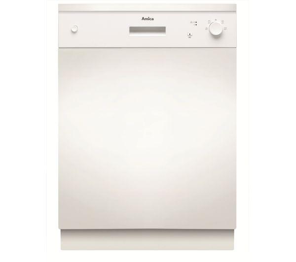 Image of AMICA ZZV634W Semi-integrated Full-size Dishwasher - White