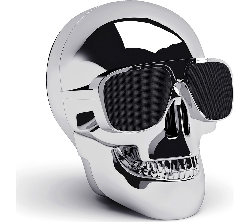 JARRE Aero Skull Nano Wireless Portable Speaker - Silver