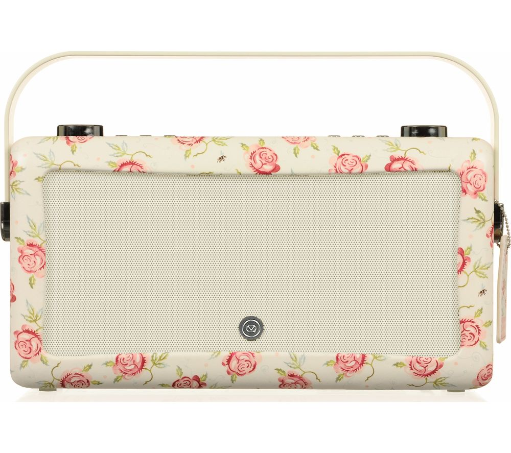 VQ by Emma Bridgewater Hepburn Portable DAB+ Bluetooth Radio - Rose & Bee