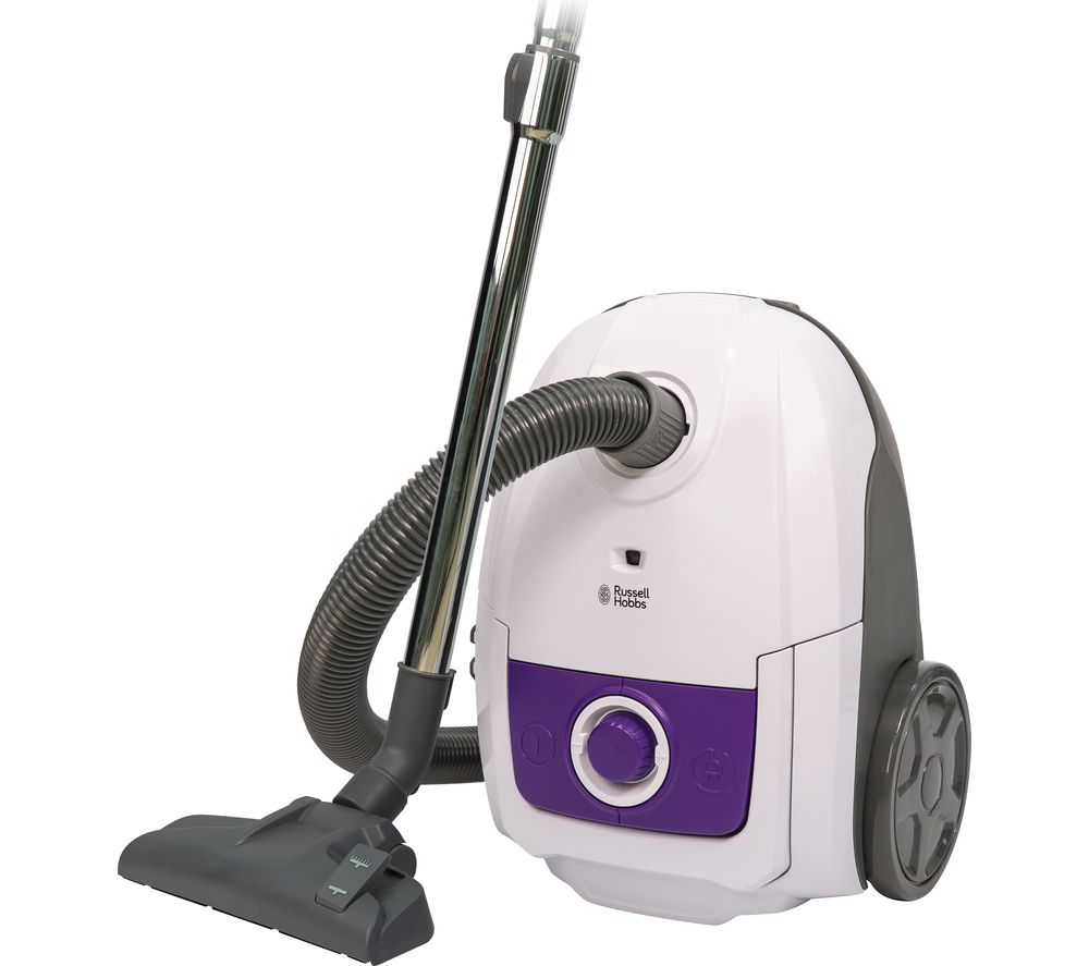 RUSSELL HOBBS RHBCV2502 Cylinder Vacuum Cleaner - White & Purple