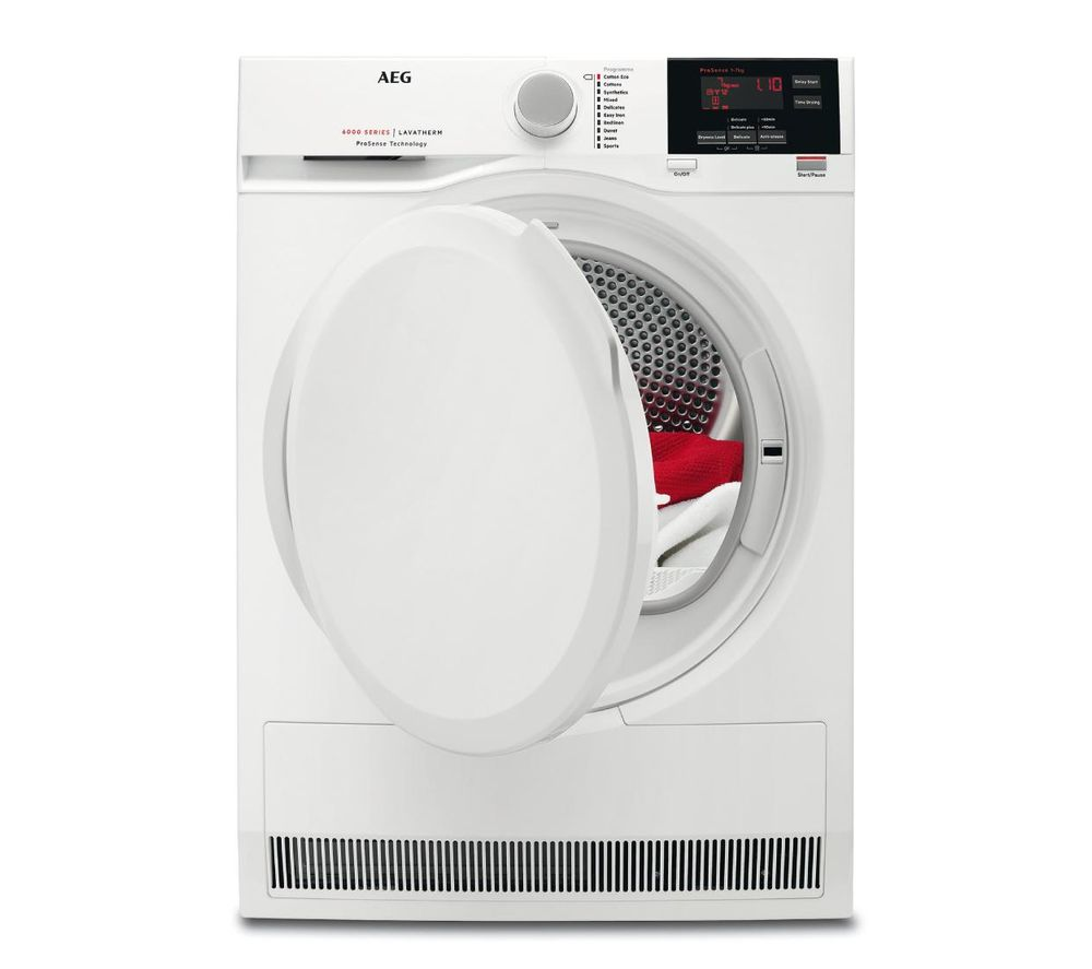 AEG T6DBG720N 7 kg Condenser Tumble Dryer - White