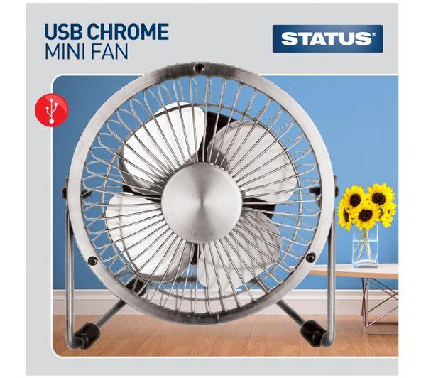 Status Usb 4 Portable Fan Chrome