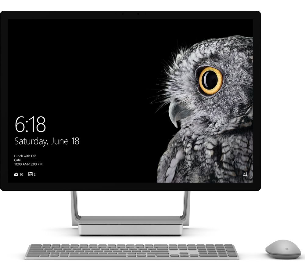 """MICROSOFT Surface Studio 28"""" 4K Touchscreen All-in-One PC - Silver"""