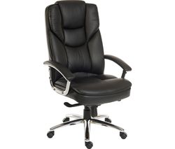 TEKNIK Skyline 9413086 Leather Tilting Executive Chair - Black