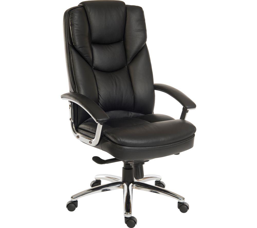 TEKNIK Skyline 9413086 Leather Tilting Executive Chair - Black
