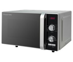 RUSSELL HOBBS RHFM2001S Compact Solo Microwave - Silver Best Price, Cheapest Prices