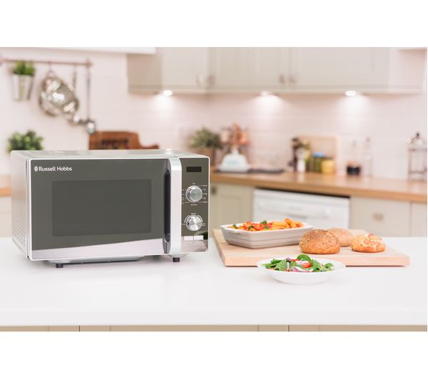 fa22cd9ccfb7 Buy RUSSELL HOBBS RHFM2001S Compact Solo Microwave - Silver ...