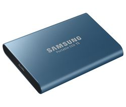 SAMSUNG T5 External SSD - 500 GB, Blue