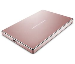 LACIE Porsche Design Portable Hard Drive - 2 TB, Rose Gold
