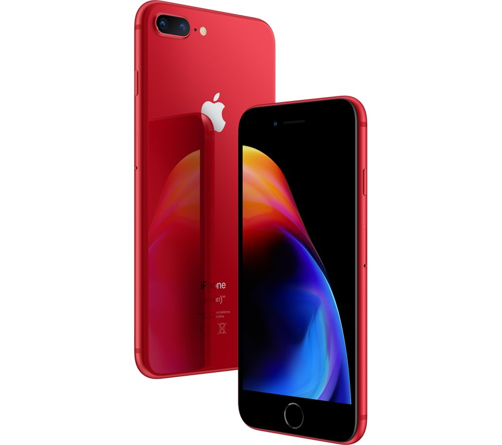 buy apple iphone 8 plus product red special edition 64 gb red free delivery currys. Black Bedroom Furniture Sets. Home Design Ideas