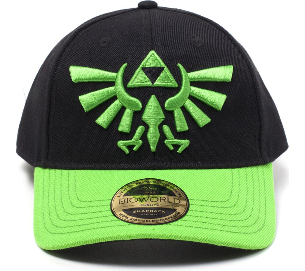 NINTENDO Zelda Hyrule Crest Logo Cap - Black & Green