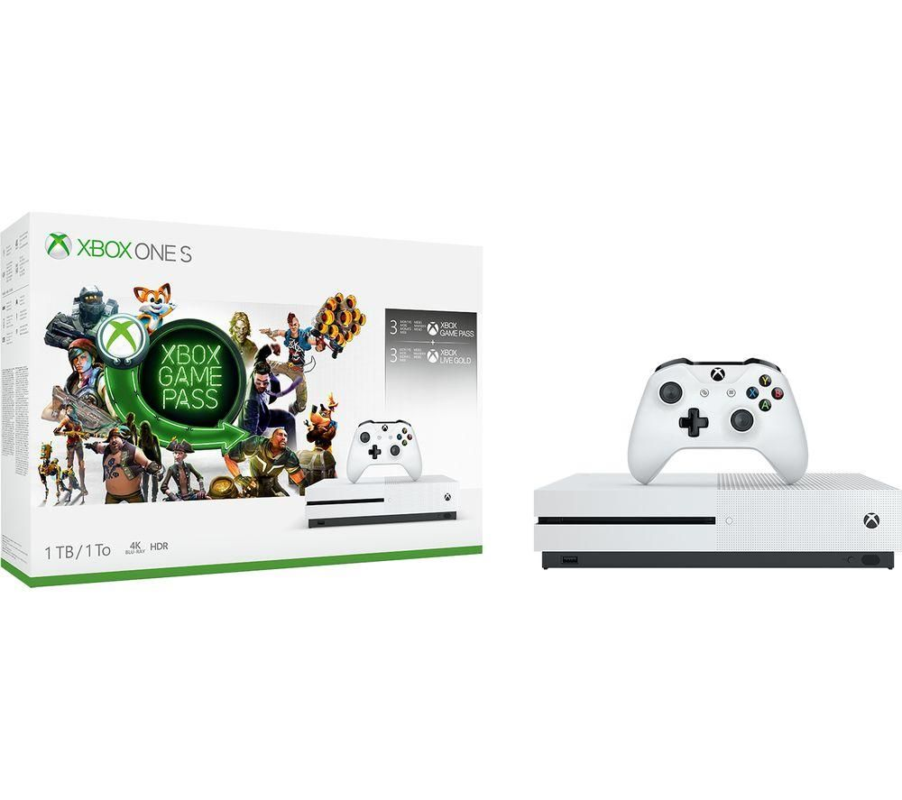 MICROSOFT Xbox One S with 3-Month Game Pass & Live Gold