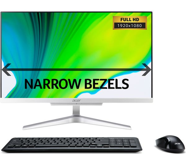 """Image of ACER C22-865 21.5"""" Intel® Core™ All-in-One - 1 TB HDD, Silver"""