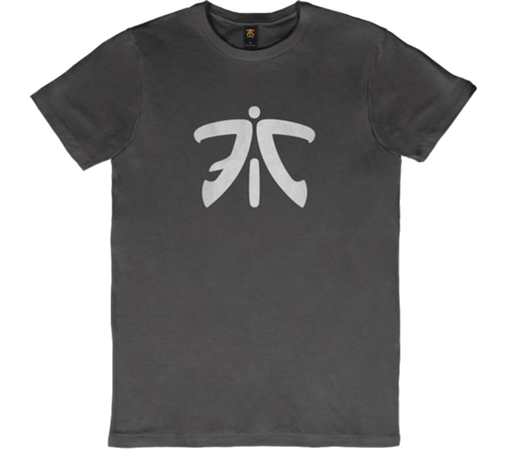 FNATIC Ess Logo T-Shirt - Medium, Grey