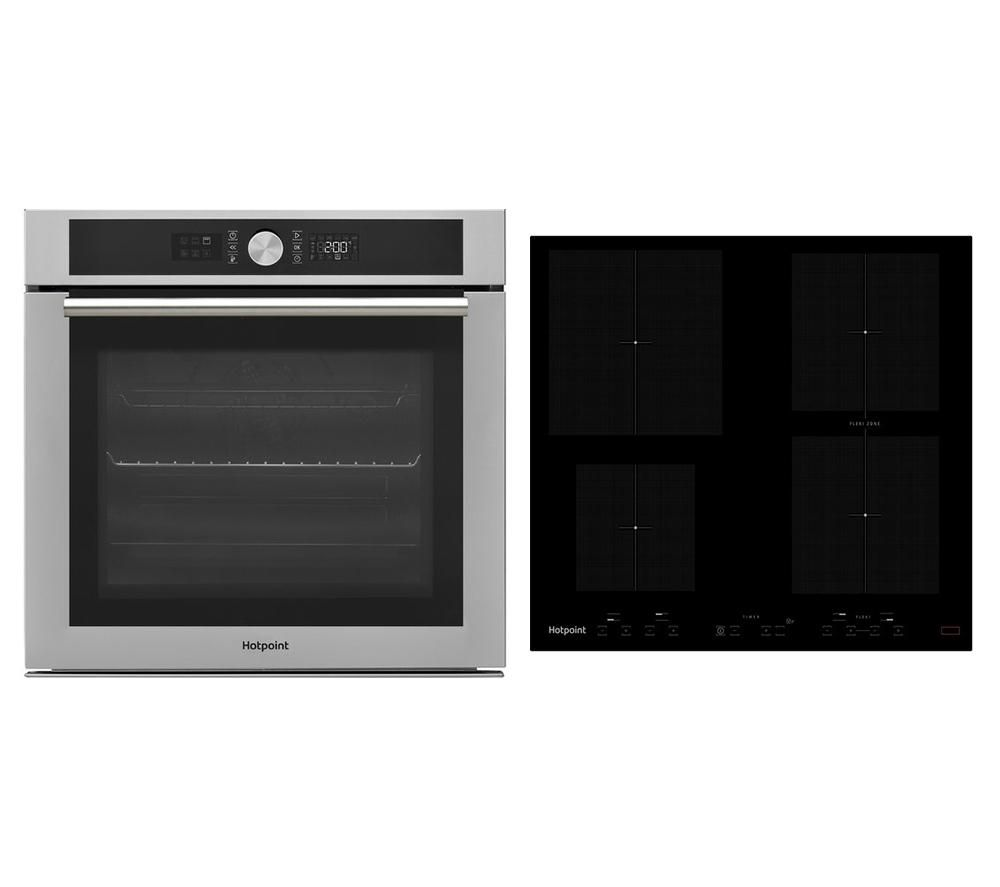 HOTPOINT Class 4 SI4 854 C IX Electric Oven & Smart CID641BB Electric Induction Hob Bundle
