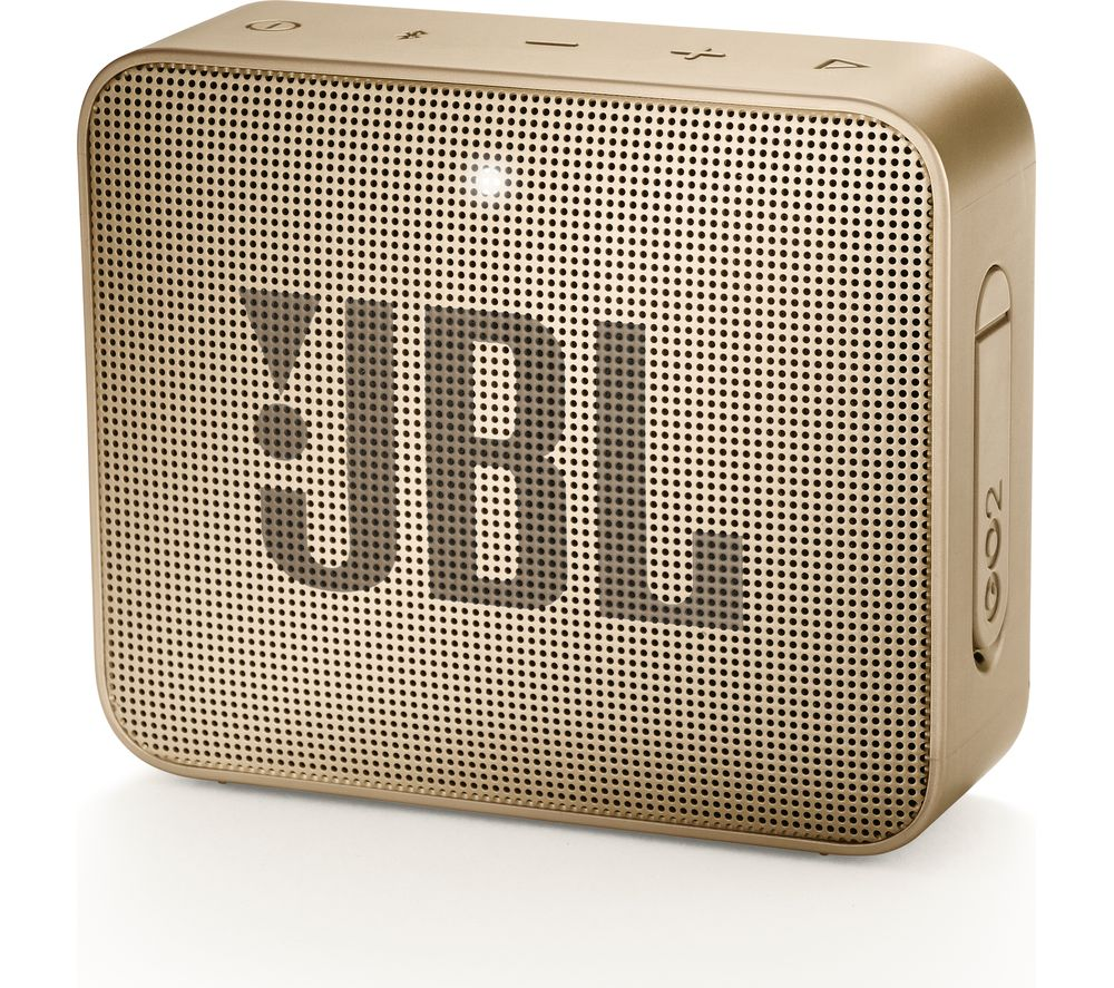 JBL GO2 Portable Bluetooth Speaker - Gold