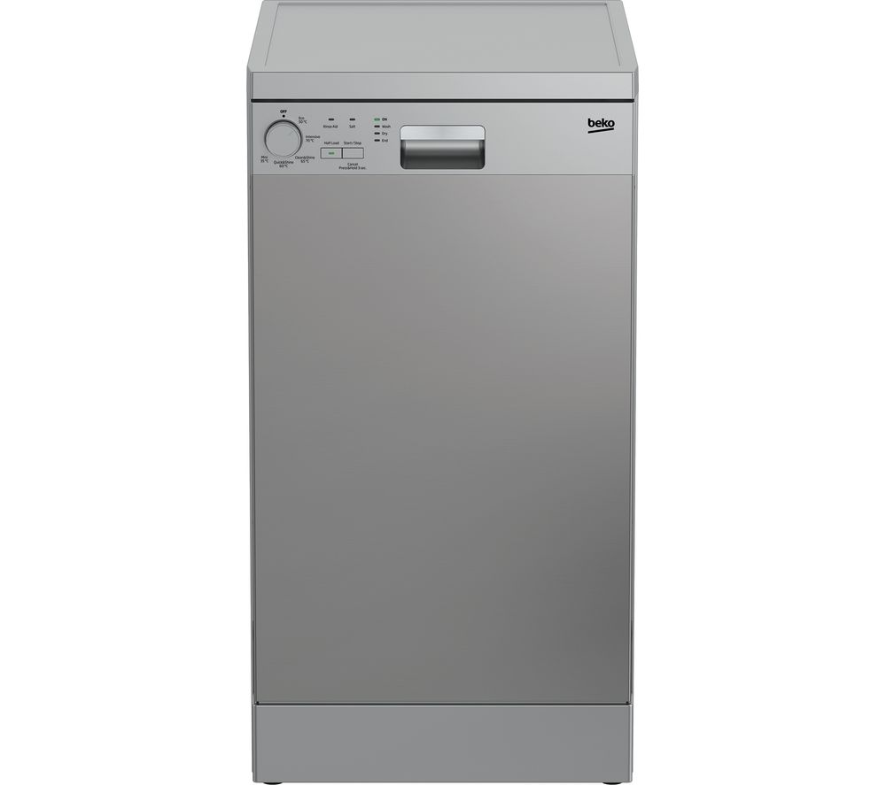 BEKO DFS05X11X Slimline Dishwasher - Stainless Steel