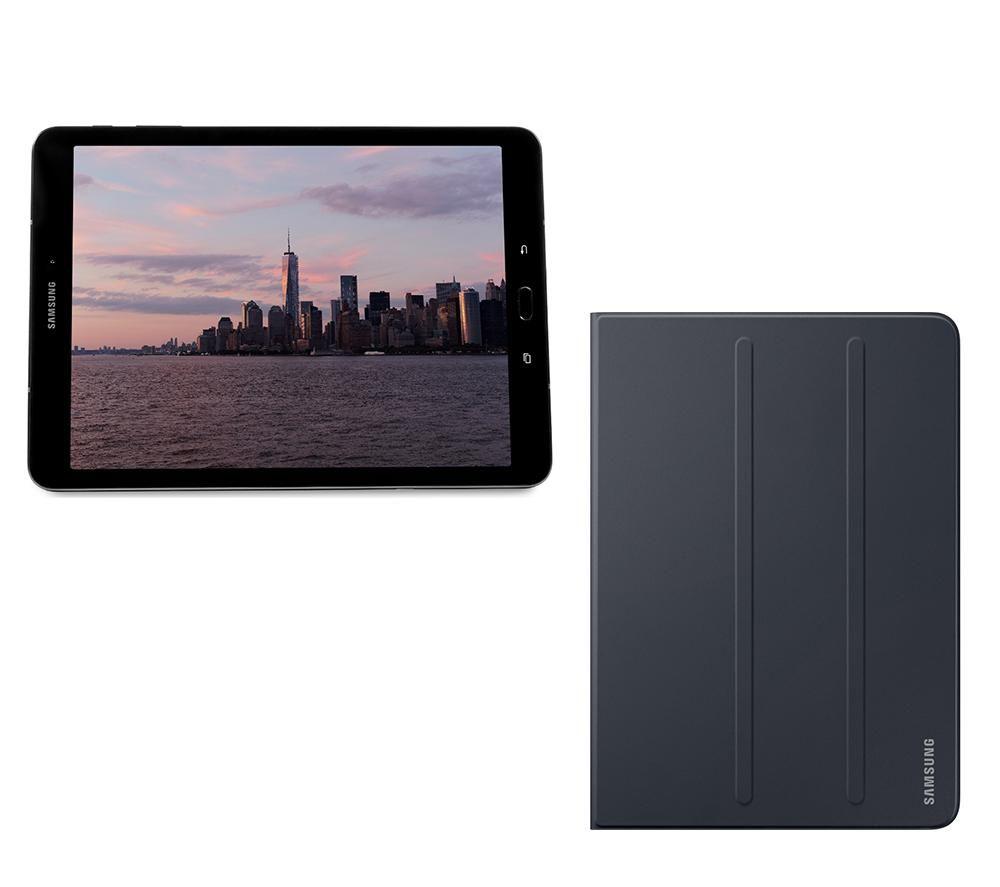 """Image of SAMSUNG Galaxy Tab S3 9.7"""" Tablet, S Pen & Folio Case Bundle - 32 GB, Black, Black"""