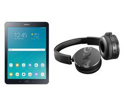 SAMSUNG Galaxy Tab S2 9.7' Tablet & C50BT Wireless Bluetooth Headphones Bundle - 32 GB, Black