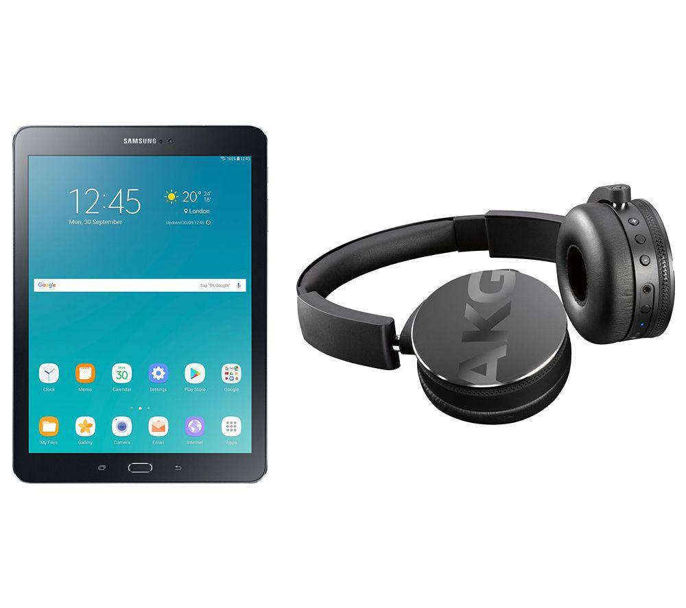 Image of SAMSUNG Galaxy Tab S2 9.7' Tablet & C50BT Wireless Bluetooth Headphones Bundle - 32 GB, Black, Black