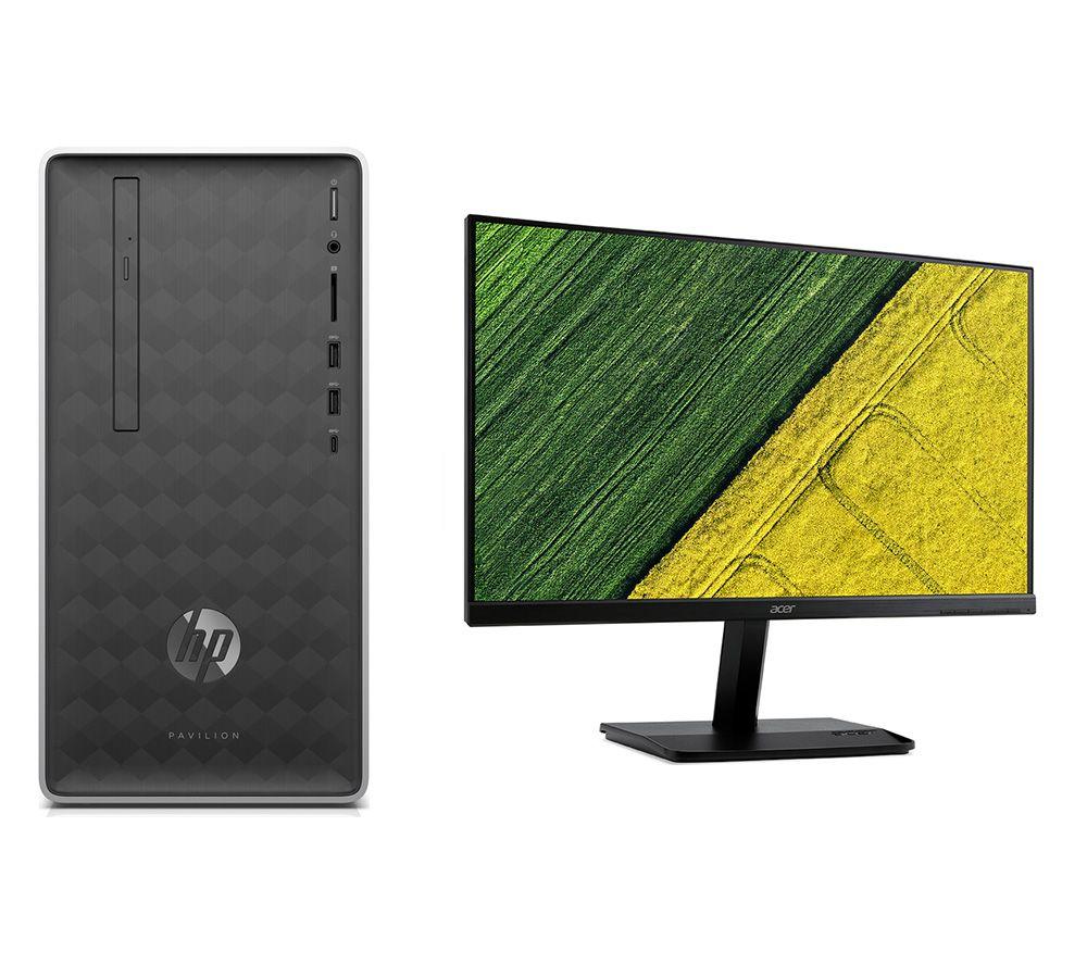 "HP Pavilion 590-a0005na Desktop PC & KA271Bbid Full HD 27"" Monitor Bundle"