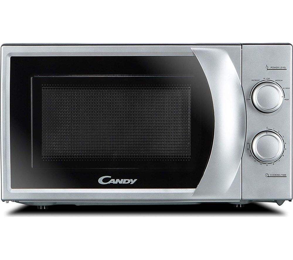 CANDY CMW 2070S-UK Compact Solo Microwave - Silver