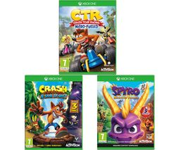 XBOX ONE Crash Team Racing - Nitro-Fuelled, Crash Bandicoot N Sane Trilogy & Spyro Trilogy Reignited Bundle