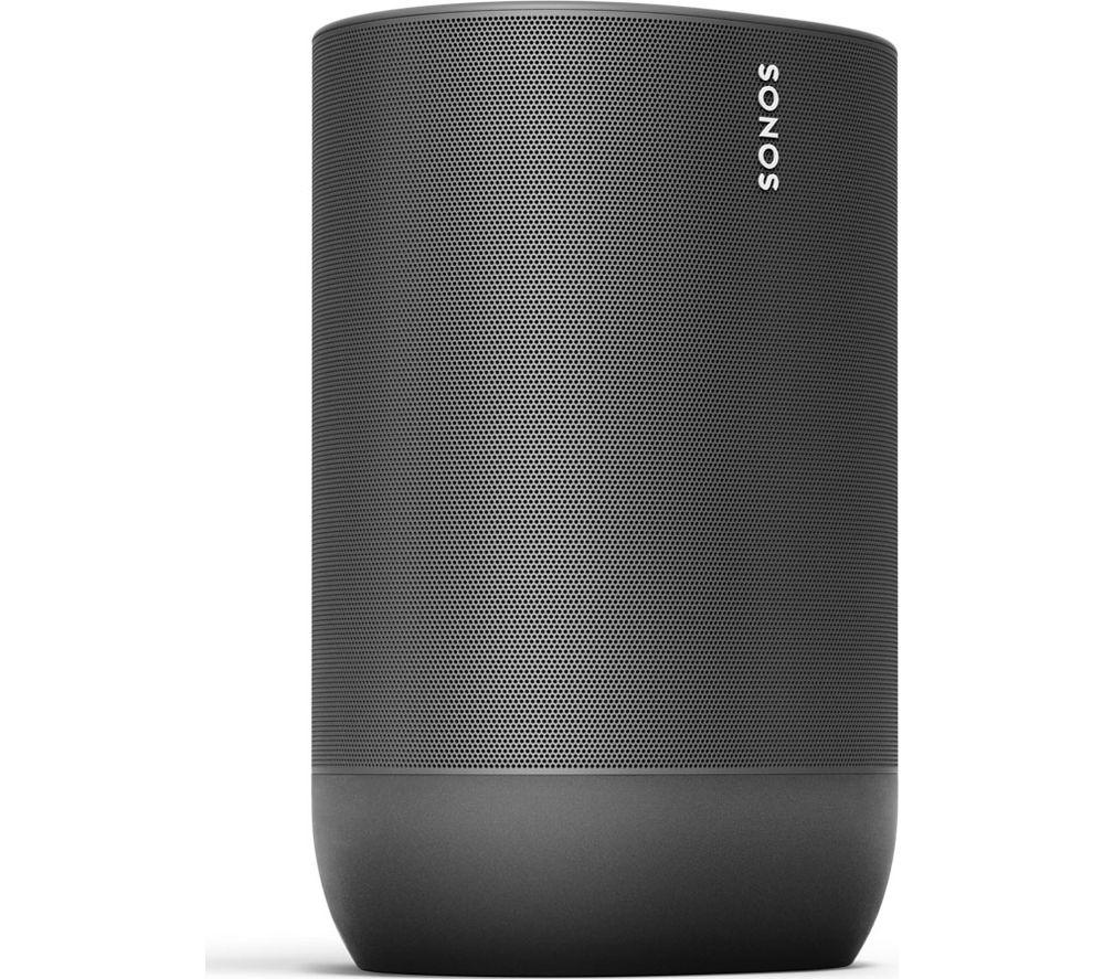 Image of SONOS Move Portable Wireless Multi-room Speaker with Google Assistant & Amazon Alexa - Black, Black