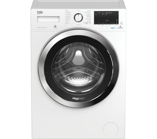 Image of BEKO Aquatech WX84044E0W Bluetooth 8 kg 1400 Spin Washing Machine - White